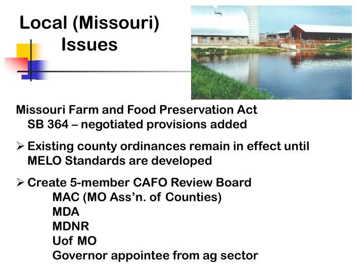 Local (Missouri) Issues