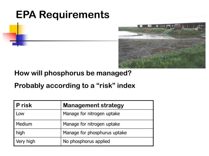 EPA Requirements