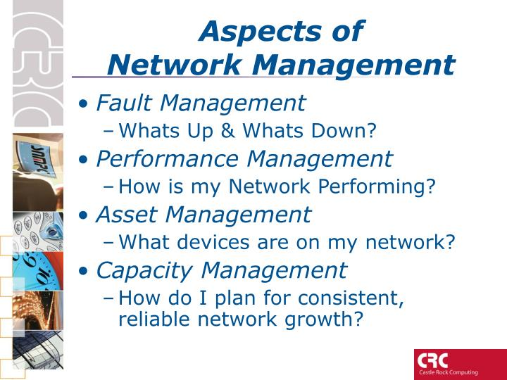 Aspects of network management