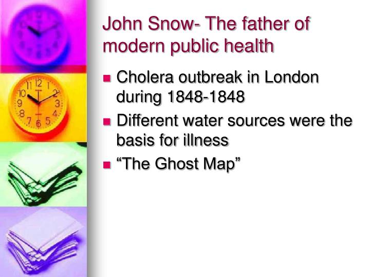 John Snow- The father of modern public health