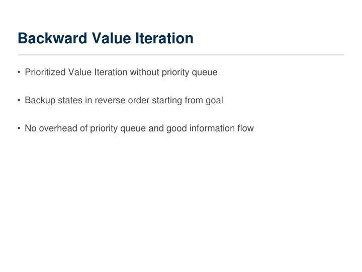 Backward Value Iteration