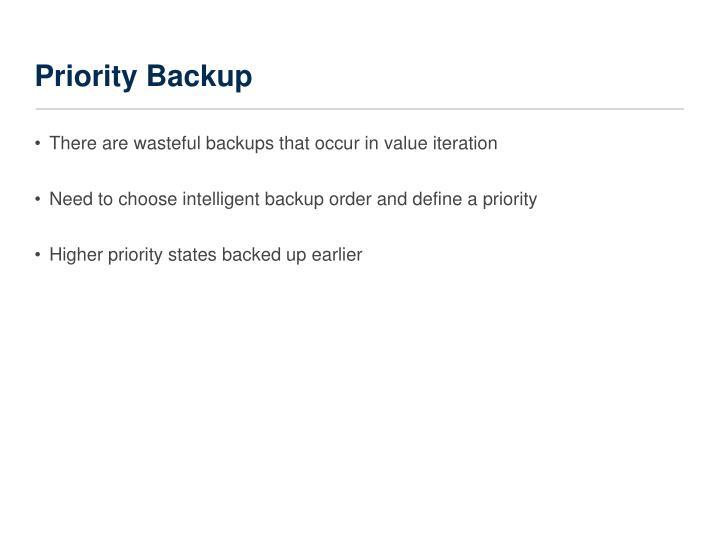 Priority Backup