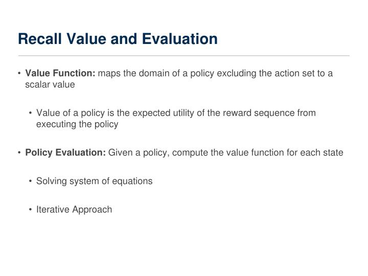 Recall Value and Evaluation
