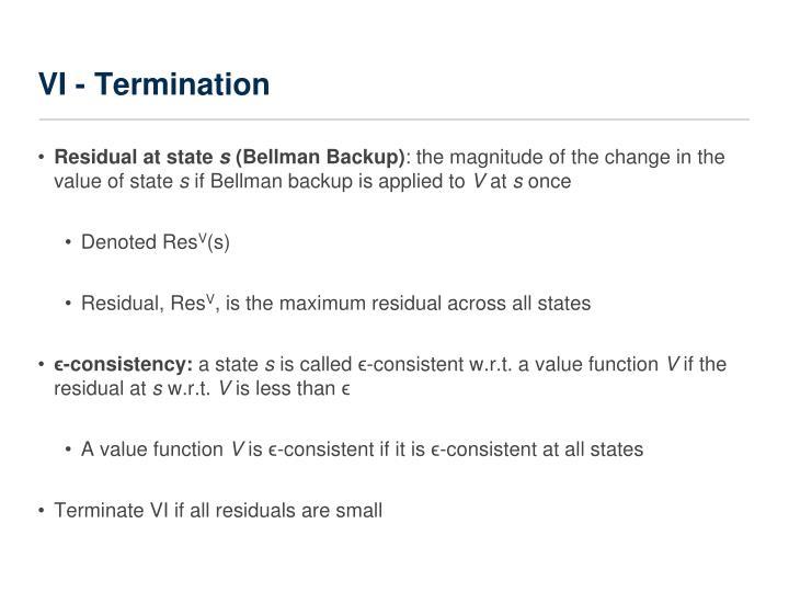 VI - Termination