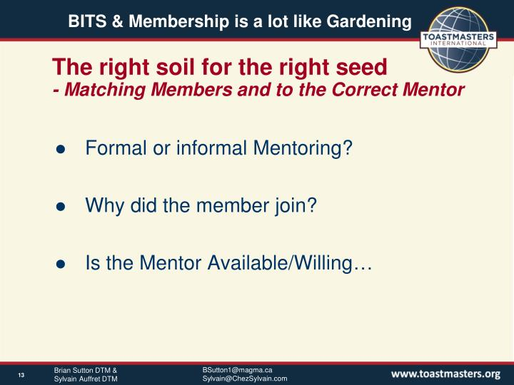 The right soil for the right seed