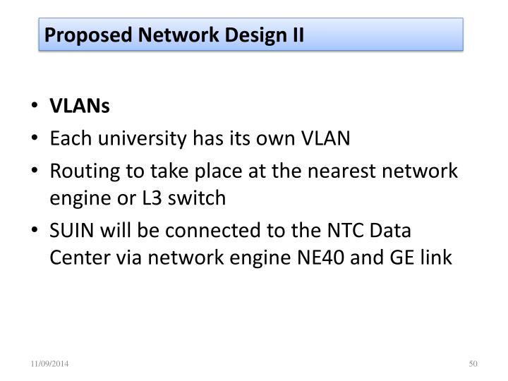 Proposed Network Design II