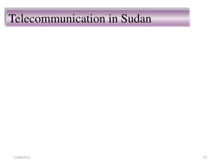 Telecommunication in Sudan