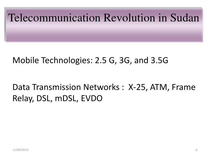 Telecommunication Revolution in Sudan