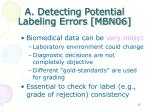 a detecting potential labeling errors mbn06