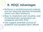b mdqc advantages