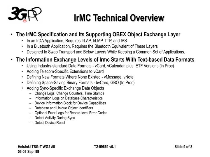 IrMC Technical Overview