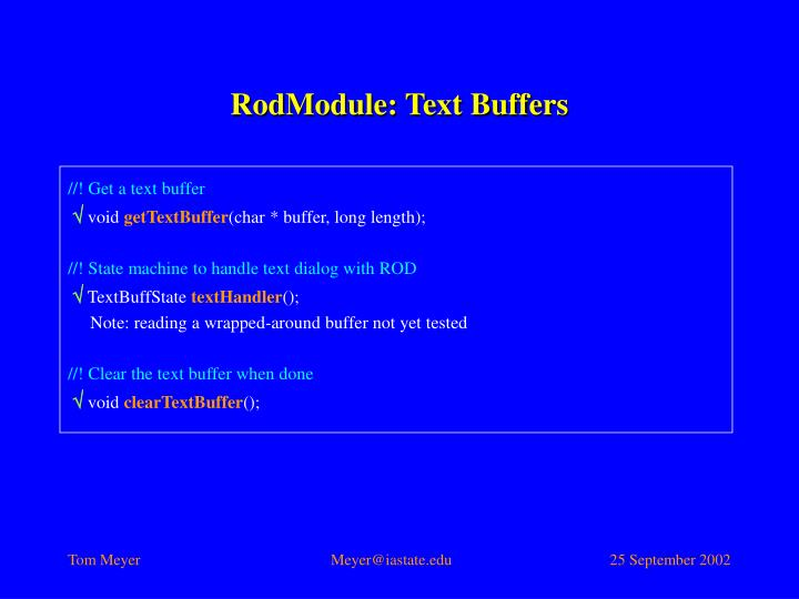 RodModule: Text Buffers