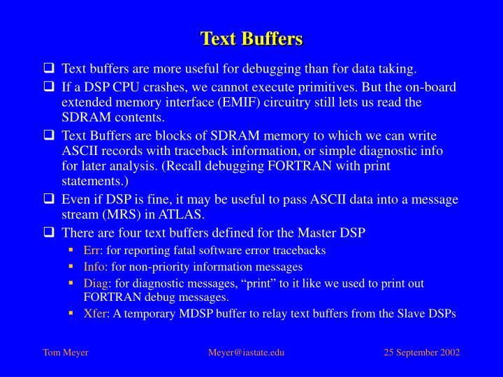 Text Buffers