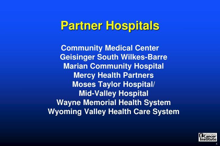 Partner Hospitals