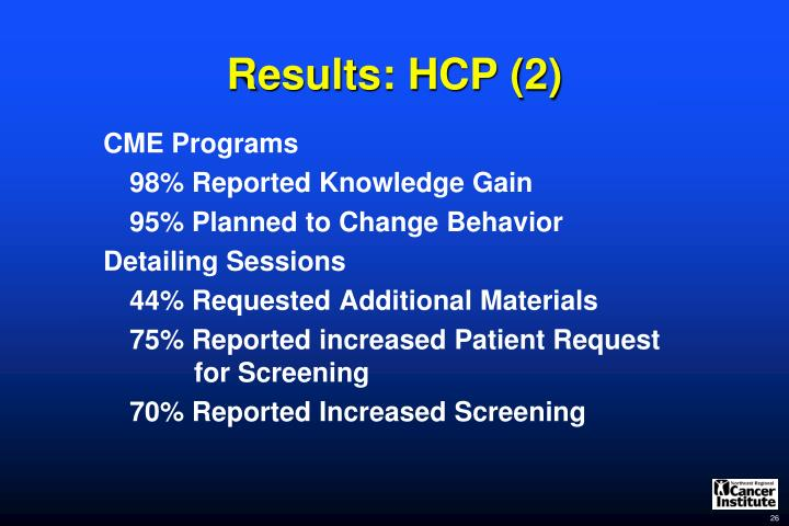 Results: HCP (2)