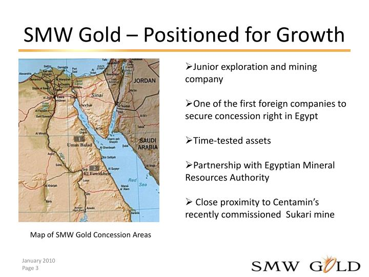 Smw gold positioned for growth