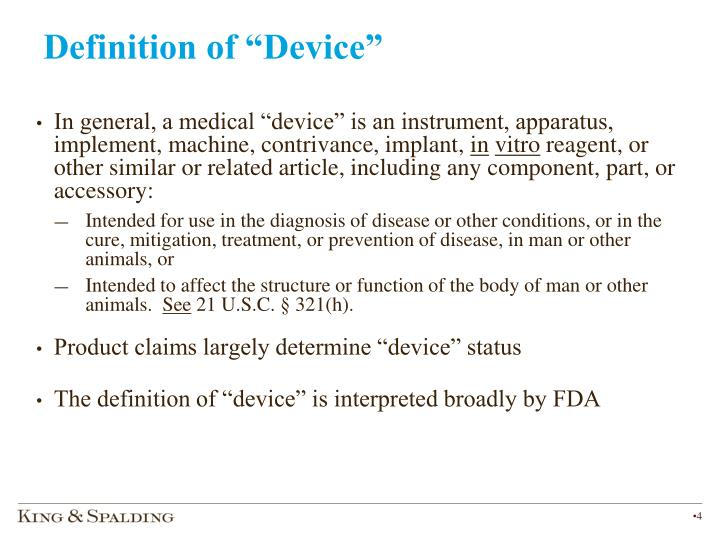 """Definition of """"Device"""""""