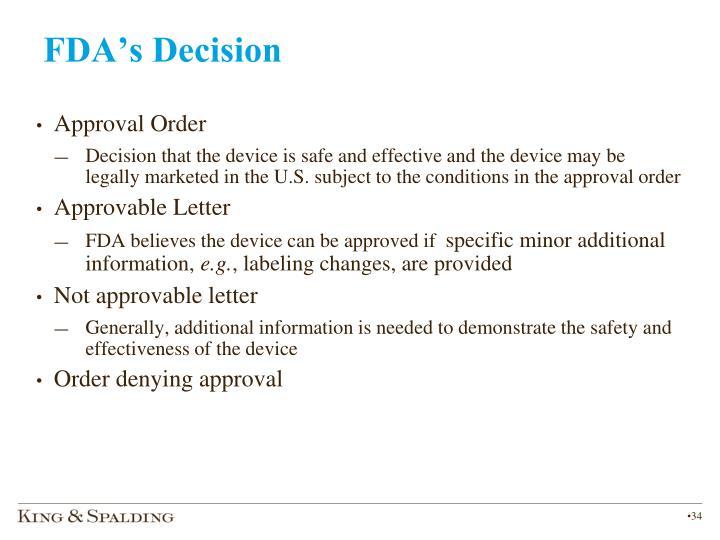 FDA's Decision