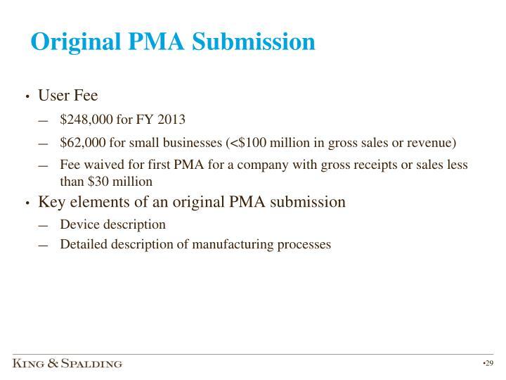 Original PMA Submission