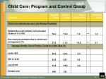 child care program and control group1
