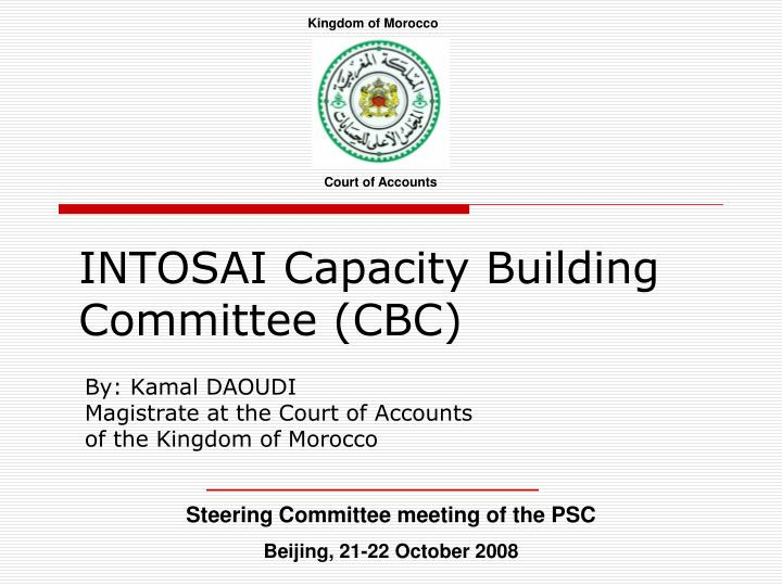 Intosai capacity building committee cbc