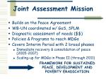 joint assessment mission