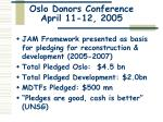 oslo donors conference april 11 12 2005