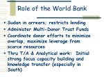 role of the world bank