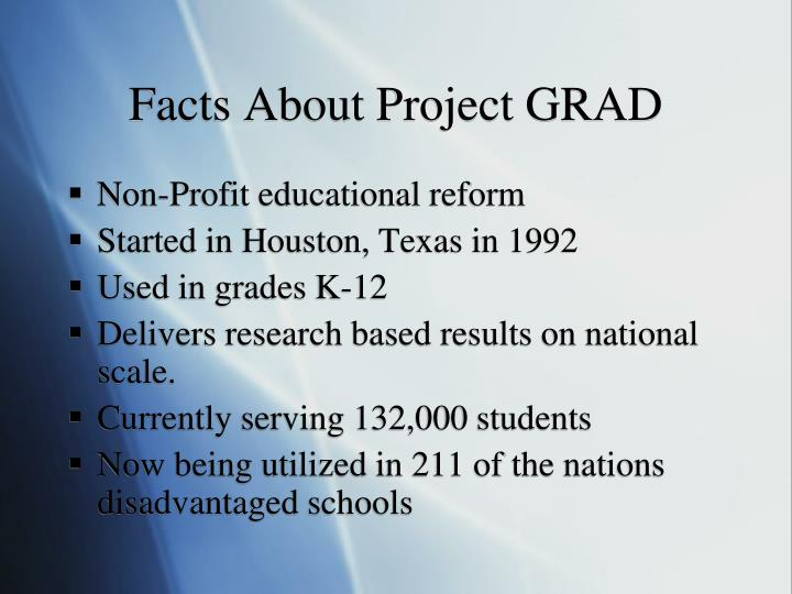 Facts about project grad