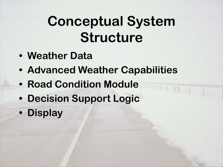 Conceptual System Structure