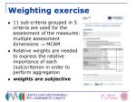 weighting exercise