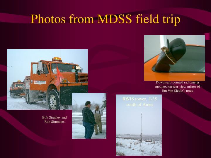 Photos from MDSS field trip