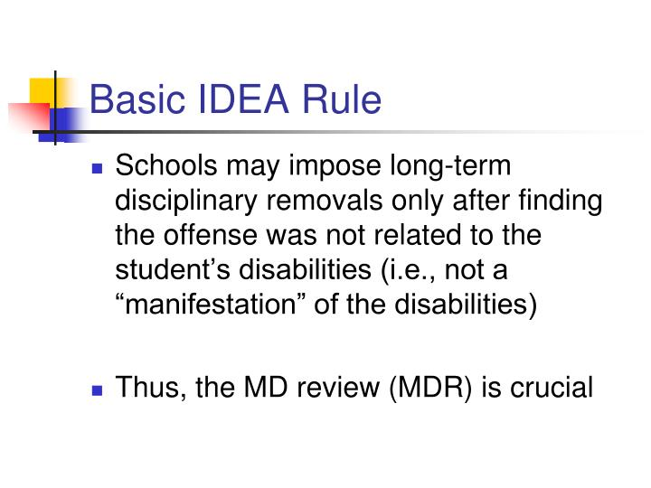 Basic idea rule