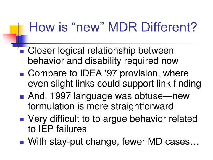 """How is """"new"""" MDR Different?"""