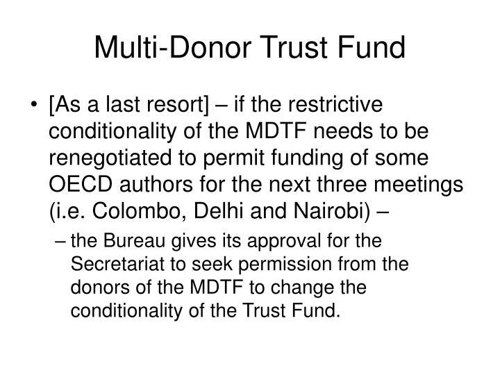 Multi-Donor Trust Fund