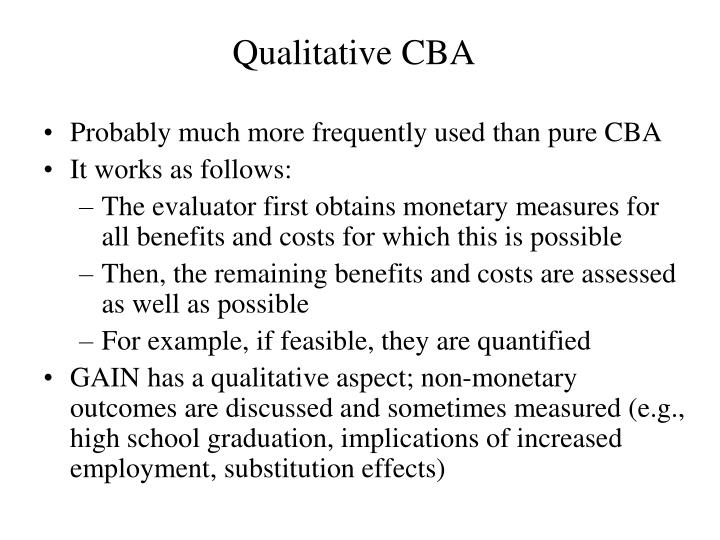 Qualitative CBA