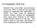 4 cartographic work was