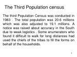 the third population census