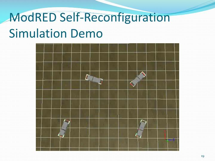 ModRED Self-Reconfiguration Simulation Demo
