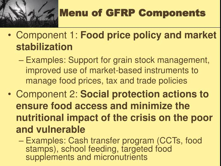 Menu of GFRP Components