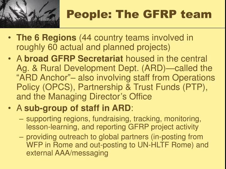 People: The GFRP team