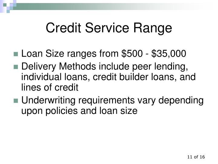 Credit Service Range