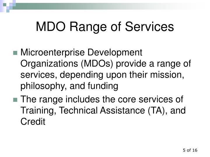 MDO Range of Services