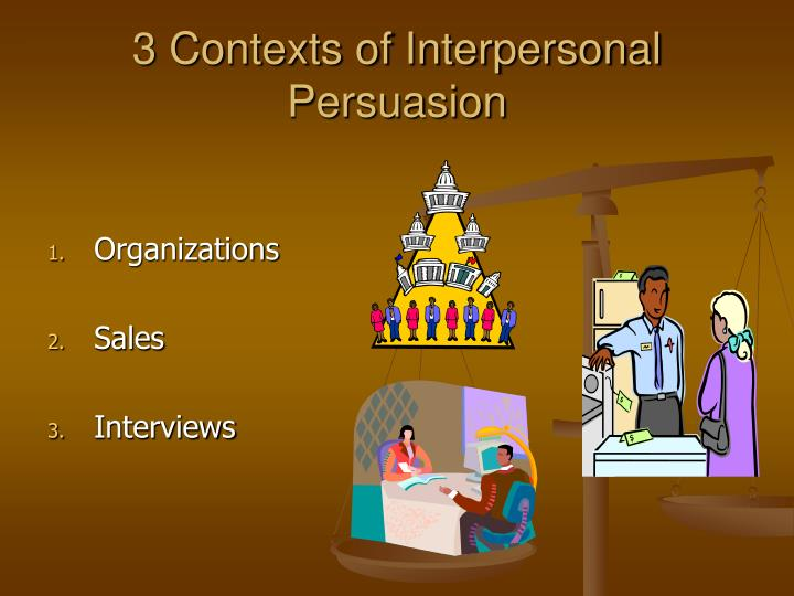 3 Contexts of Interpersonal Persuasion