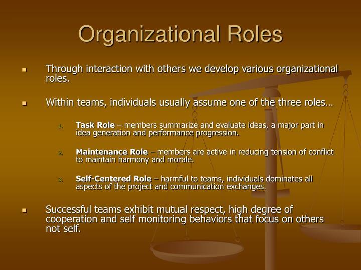 Organizational Roles
