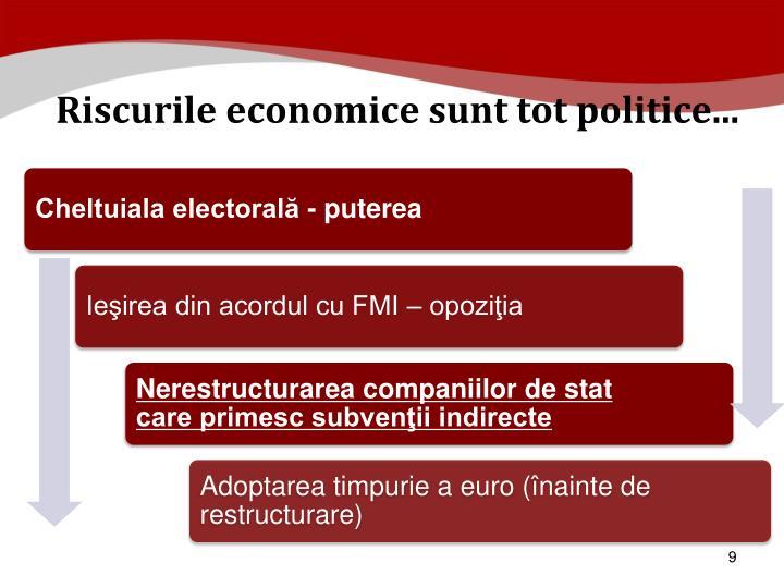 Riscurile economice sunt tot politice...