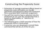 constructing the propensity score