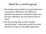 need for a control group