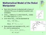mathematical model of the robot manipulator1
