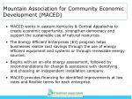 mountain association for community economic development maced